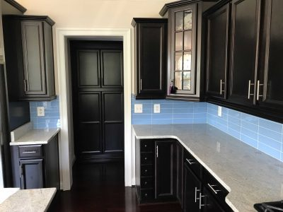 Solid Haven Blue 10 Glass Tile Size 3x12
